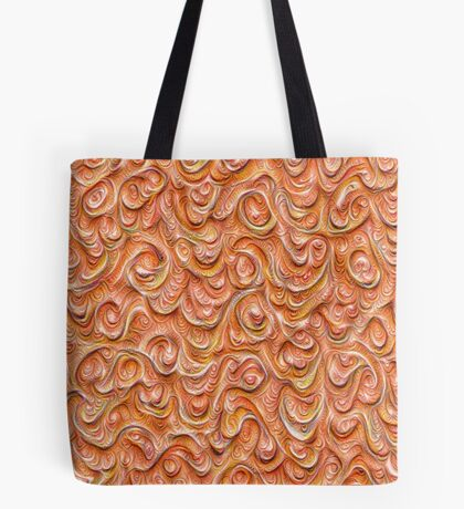 Surface texture #DeepDream #Art Red Tote Bag