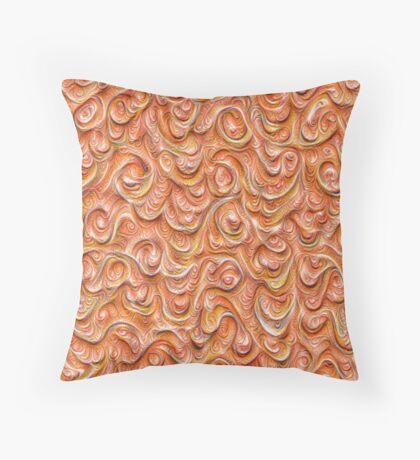Surface texture #DeepDream #Art Red Throw Pillow