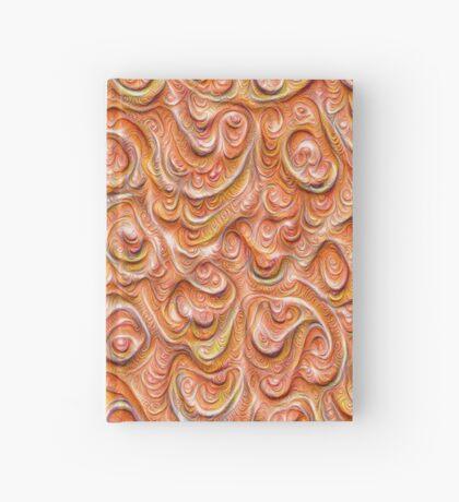 Surface texture #DeepDream #Art Red Hardcover Journal