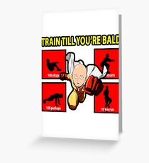 One Punch Man - Hero Workout Greeting Card