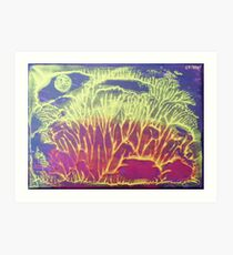 """""""Moonlit Forest"""" original abstract artwork by Laura Tozer Art Print"""