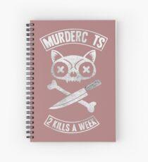 Murder Cat Spiral Notebook