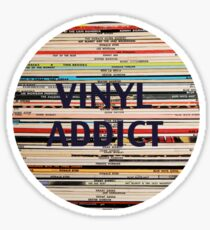 Vinyl Addict records Sticker