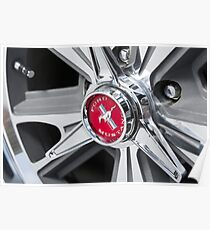 Ford Mustang Alloy Wheel  Poster