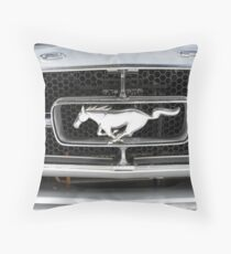 Ford Mustang Grille Badge Throw Pillow