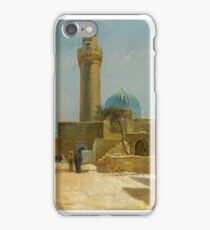 Olaf Viggo Peter Langer (Leipzig, Germany - Rungsted, Denmark ), View of the Bibi-Heybat Mosque, Baku iPhone Case/Skin