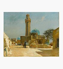 Olaf Viggo Peter Langer (Leipzig, Germany - Rungsted, Denmark ), View of the Bibi-Heybat Mosque, Baku Photographic Print