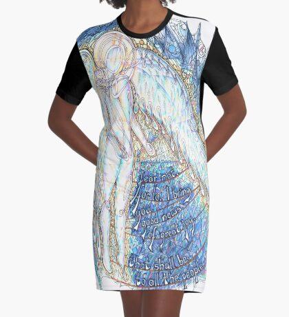 Fear Not Graphic T-Shirt Dress