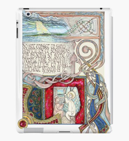 Hospitality to Angels iPad Case/Skin