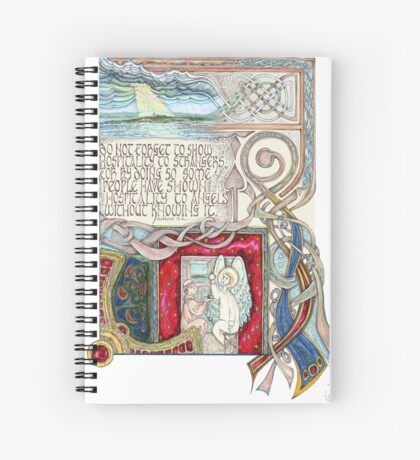 Hospitality to Angels Spiral Notebook