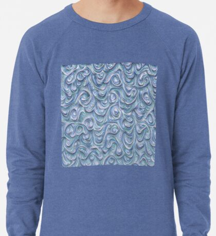 Surface texture #DeepDream #Art Blue Lightweight Sweatshirt