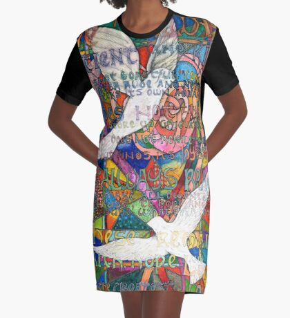 Love Is Graphic T-Shirt Dress