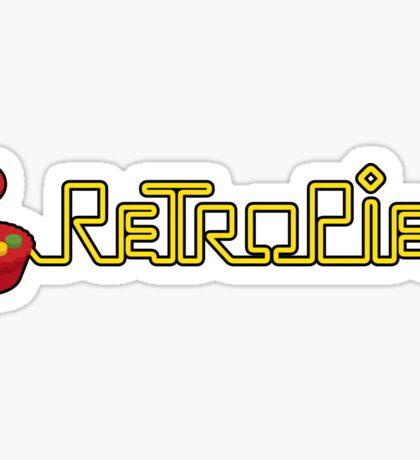 retropie raspberry horizontal logo Sticker
