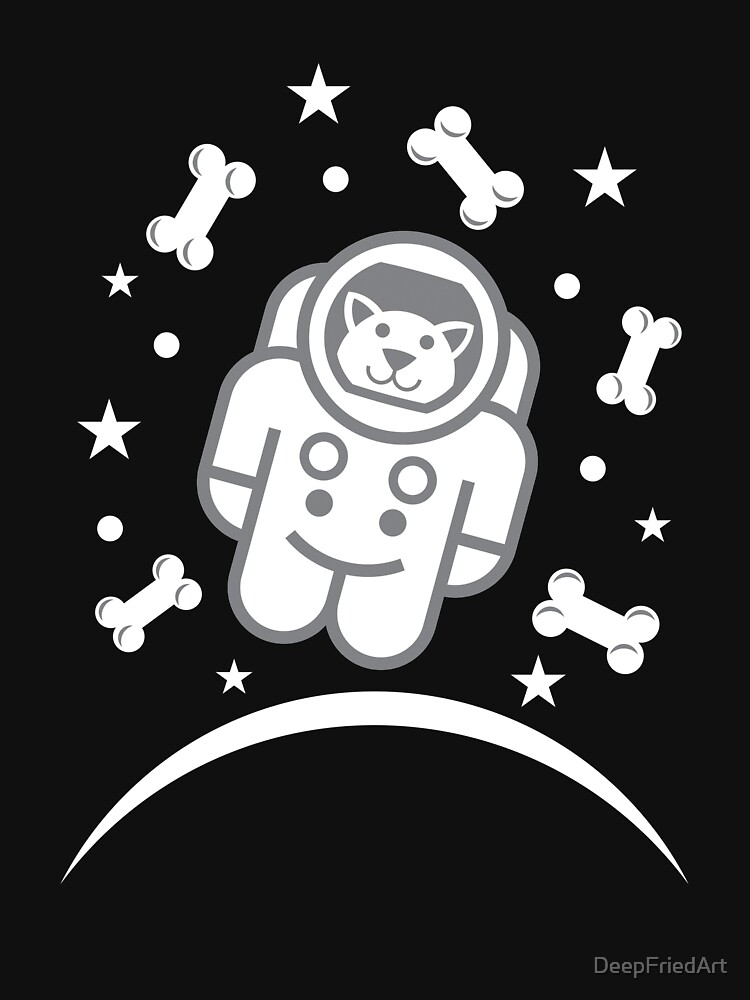 Dog in Space Astronaur Traveler Doggie by DeepFriedArt