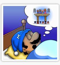 Dreaming Mario Sticker