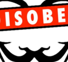 Disobey Censorship Circle Sticker