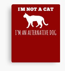 Hilarious Alternate Dog Tee Canvas Print
