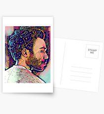 Abstraktes Gambino Postkarten