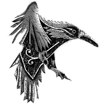 The Crow of Ragnar Lodbrok by Mezcu