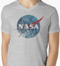 NASA Space Agency Ultra-Vintage Men's V-Neck T-Shirt