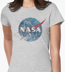 NASA Space Agency Ultra-Vintage Womens Fitted T-Shirt