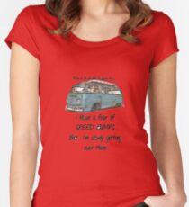 Volkswagen Speed bumpes Women's Fitted Scoop T-Shirt