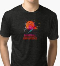 Basketball is my lifestyle Tri-blend T-Shirt