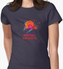 Basketball is my lifestyle Womens Fitted T-Shirt