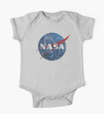 NASA Vintage Emblem Short Sleeve Baby One-Piece