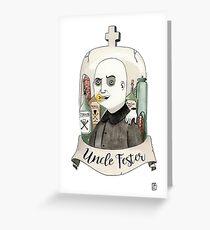 Fester Addams Greeting Card