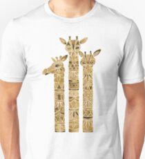 Giraffes – Sepia Palette Unisex T-Shirt