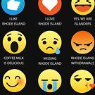 I Love Rhode Island Fifty Nifty United States Emoji Emoticon Graphic Tee Shirt by DesIndie