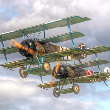 Two Little Fokkers - HDR - Dunsfold 2014 by Arrowman