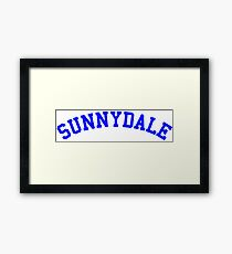 buffy sunnydale Framed Print