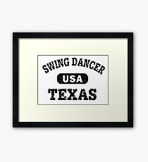 Swing Dancer Texas Framed Print