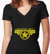 captain america Women's Fitted V-Neck T-Shirt