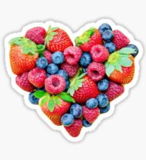 Berry Heart Sticker