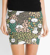 Flowers And Animals Mini Skirt