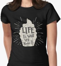 Life Is What You Bake It Vintage Cupcake T-shirt T-Shirt