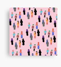 MUSLIM GIRL CROWD Canvas Print