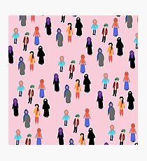 MUSLIM GIRL CROWD Photographic Print