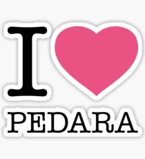 I ♥ PEDARA Sticker