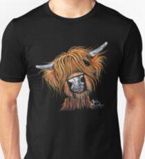 Scottish Highland Cow ' JIMMY ' by Shirley MacArthur Unisex T-Shirt