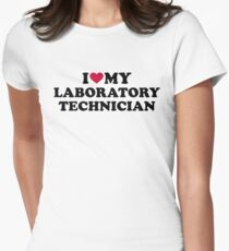 I love my laboratory technician Womens Fitted T-Shirt