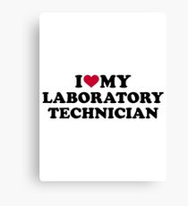 I love my laboratory technician Canvas Print