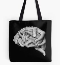 Human brain made with hands Tote Bag