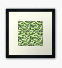 GREENERY LEAVES -W- Framed Print