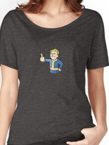 Vault Boy middle finger Women's Relaxed Fit T-Shirt