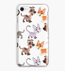 Cats and Dogs Cartoon Drawing iPhone Case/Skin