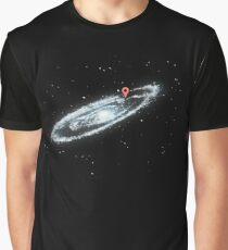 You Are Here - Milky way Graphic T-Shirt